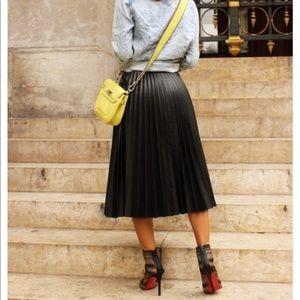 53e5873215 BCBGMaxAzria Skirts | Bcbg Max Azria Elsa Pleated Faux Leather Skirt ...